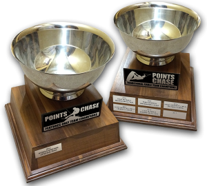 Points chase trophies
