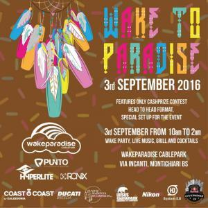 Wake to Paradise Contest 2016