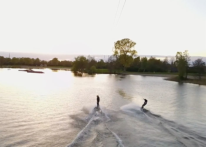 Spring evening at Burnside Cablepark