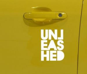 unleashed Stickers White